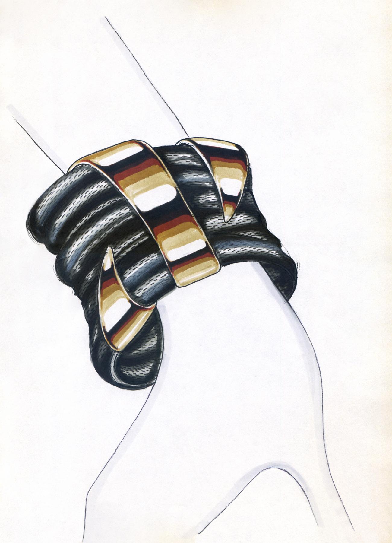 tessuto-nero-bracciale